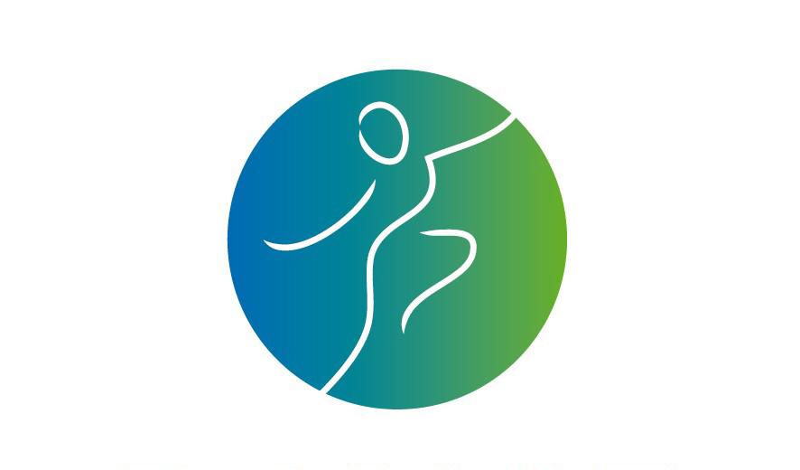logo Dance Floor blauw-groen voor het onderdeel coach