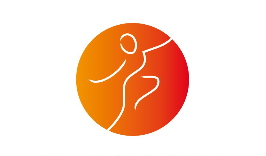 logo Dance Floor oranje-rood voor het onderdeel docent