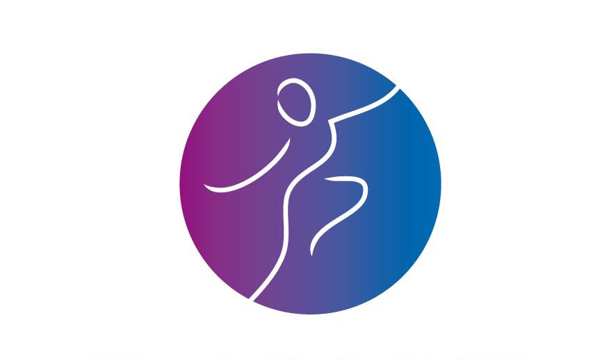 logo Dance Floor paars-blauw voor het onderdeel choreograaf