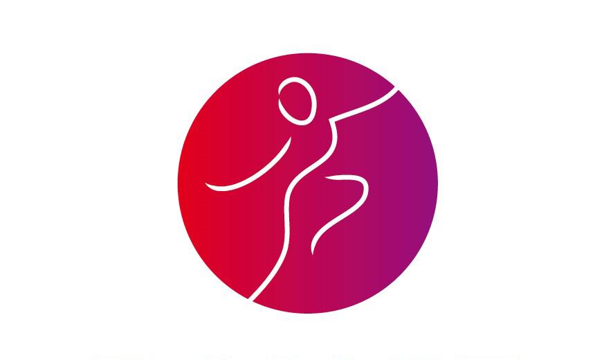 logo Dance Floor rood-paars voor het onderdeel danser